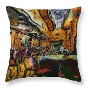 Grand Salon 05 Queen Mary Ocean Liner Photo Art 04 Throw Pillow