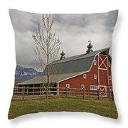 Grand Scenic Farm Throw Pillow