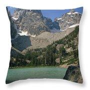 1m9387-v-grand Teton And Delta Lake - V Throw Pillow