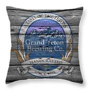 Grand Teton Brewing Throw Pillow