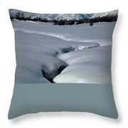 1m9304-grand Teton From Jackson Hole, Winter, H Throw Pillow