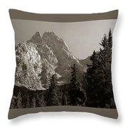 Grand Teton Throw Pillow
