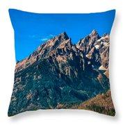 Grand Teton Mountain Throw Pillow