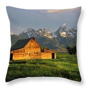 Grand Teton National Park , Wyhomestead Throw Pillow