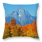 Grand Teton National Park 2 Throw Pillow