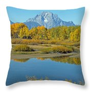 Grand Teton National Park 3 Throw Pillow