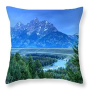 Grand Teton  - Snake River Overlook  Throw Pillow