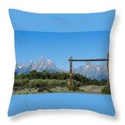 Grand Teton Ranch Throw Pillow