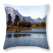 Snake River, Grand Tetons, Wyoming Throw Pillow