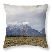 Grand Thunder - Grand Teton National Park - Wyoming Throw Pillow