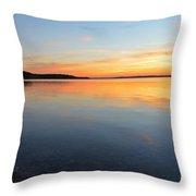 Grand Traverse Bay Sunset Throw Pillow
