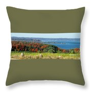 Grand Traverse Winery Lookout Throw Pillow