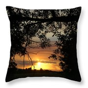 Grand Valley Sunset Throw Pillow