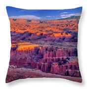Grand View Point Evening Panorama Throw Pillow