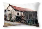 Grandaddy's Barn Throw Pillow by Melodye Whitaker
