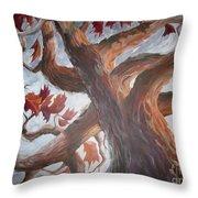 Grandeur Of Tree Throw Pillow by Paula Marsh