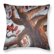 Grandeur Of Tree Throw Pillow