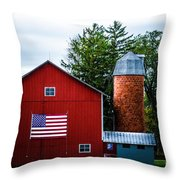 Grandfathers Barn Throw Pillow