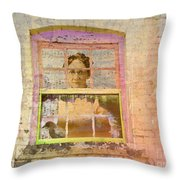 Grandma At The Window Throw Pillow