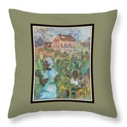 Grandma Higgins Corn Harvest Throw Pillow