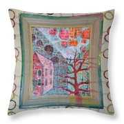 Grandma In A Tree - Framed Throw Pillow