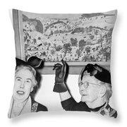Grandma Moses Throw Pillow