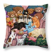 Grandma's Armchair Throw Pillow