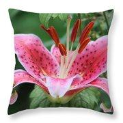 Grandma's Lily Throw Pillow