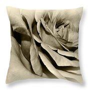 Grandma's Rose Throw Pillow