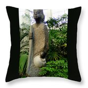 Grandmother Fetches Water Throw Pillow