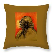 Grandmother Tells The Stories Throw Pillow