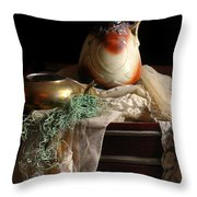 Grandmother's Lace Cloth Throw Pillow by Diana Angstadt