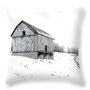 Grandpa's Barn Throw Pillow
