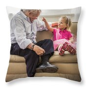 Grandpa's Little Princess Throw Pillow