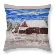 Grandpa's Old Barn Throw Pillow