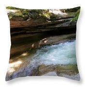 Granite Boulder And Sabbaday Brook Throw Pillow