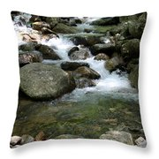 Granite Boulders In A River  Throw Pillow