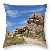 Granite Boulders In The Desert Throw Pillow