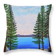 Granite Boulders Lake Tahoe Throw Pillow
