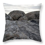 Granite Mountain Boulders Throw Pillow