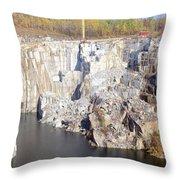 Granite Quarry, Barre, Vermont Throw Pillow