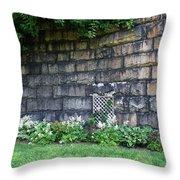 Granite Railroad Abutment Throw Pillow