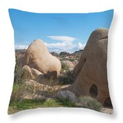 Granite Rock Formations Throw Pillow