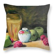 Granny's Apples Throw Pillow by Lilibeth Andre