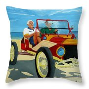 Granpas Racer Throw Pillow