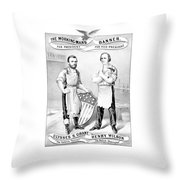 Grant And Wilson 1872 Election Poster  Throw Pillow