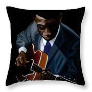 Grant Green Throw Pillow