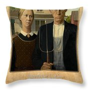 Grant Wood 1 Throw Pillow