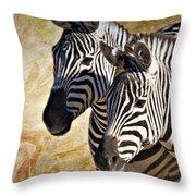 Grant's Zebras_b1 Throw Pillow