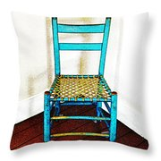 Granular Blue Throw Pillow